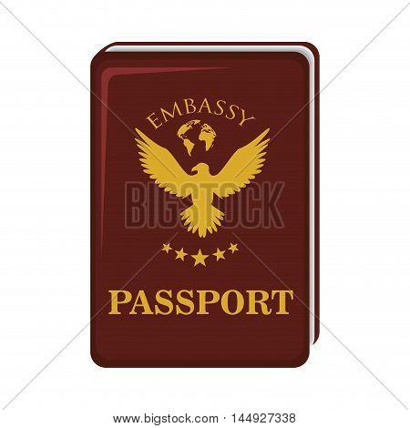 passport id document world citizen international identity vector illustration