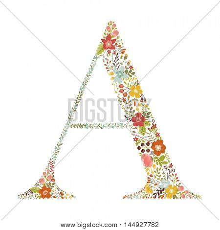A letter with decorative floral ornament