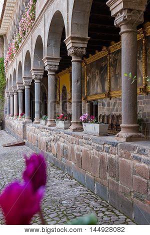 Beautiful Stone Pillars In Qurikancha