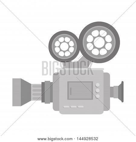 motion film camera retro vintage video device vector illustration