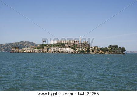 Alcatraz island - famous prison in San Francisco Bay, California