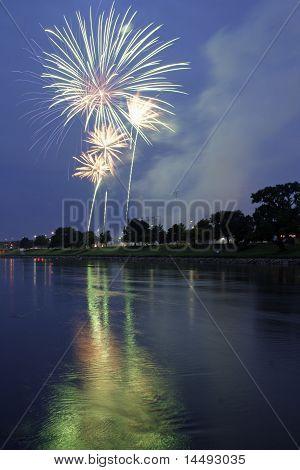 Fireworks over Wichita KS