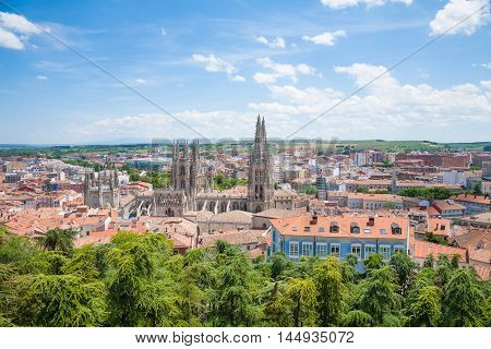 Cityscape Of Burgos Town