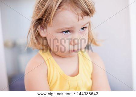 Little Child Sad Face