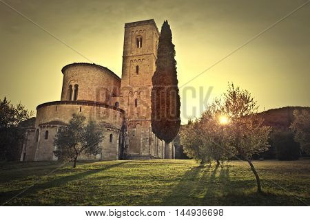 Sant'Antimo abbey in Tuscany