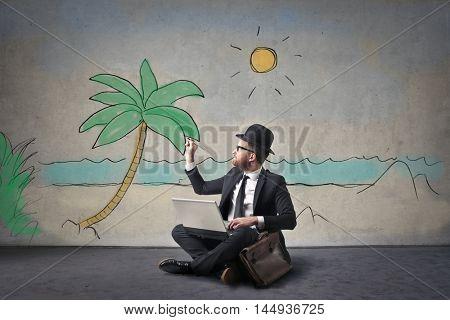 Daydreaming employee