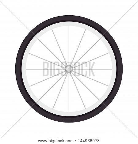 wheel bike bicyclist sport spoke object tire vector illustration