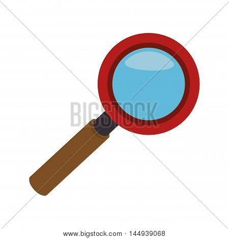 lupe magnifying glass investigation science tool search vector illustration