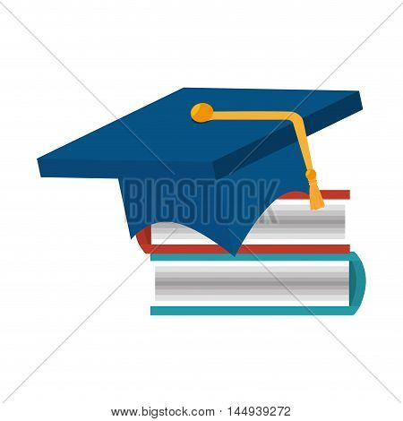 book education achivement  graduation hat read library learning knowledge vector illustration