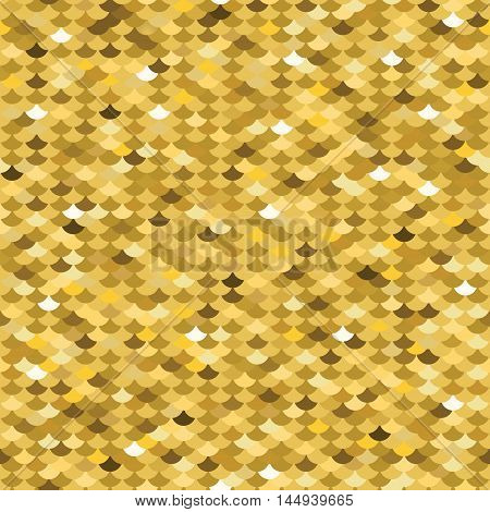 Golden squama seamless pattern. Vector illustration. Scale
