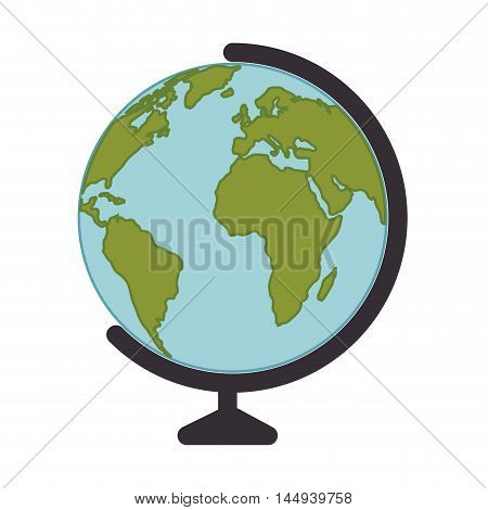 planet earth global globe countries education continent ocean geography vector illustration