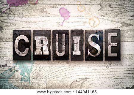 Cruise Concept Metal Letterpress Type