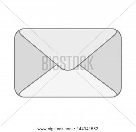 envelope mail letter post card email message vector illustration