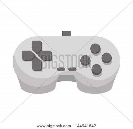 player control videogame controller entertainment technology device vector illustration