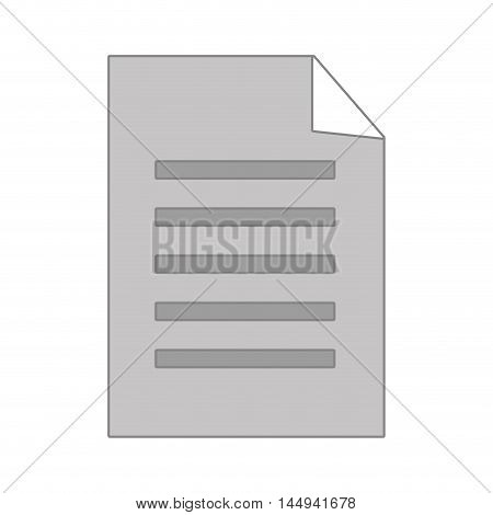 note sheet paper page document copy vector illustration