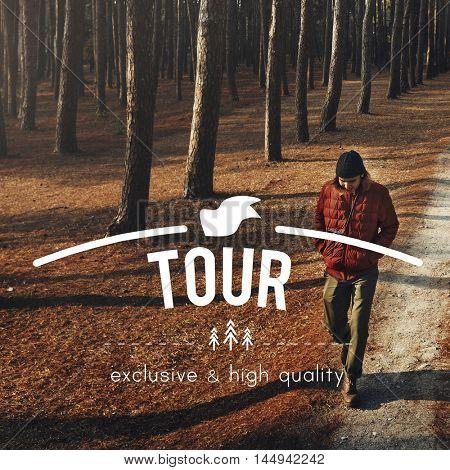 Tourist Tour Travel Destination Exploration Concept
