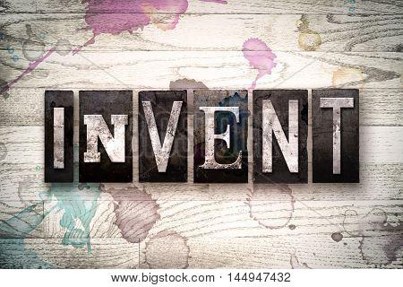 Invent Concept Metal Letterpress Type