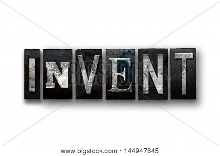 Invent Concept Isolated Letterpress Type
