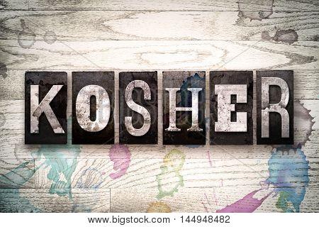 Kosher Concept Metal Letterpress Type