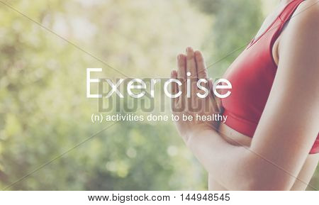 Exercise Fitness People Outdoors Graphic Concept