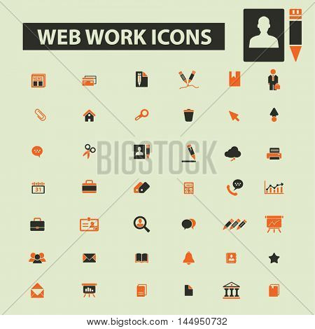 web work icons