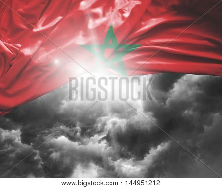 Morocco flag on a bad day