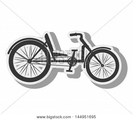 bicycle recumbent bike vehicle transport sport activity vector illustration