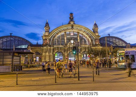 People In Front Of Deutsche Bahn Railway Central Station