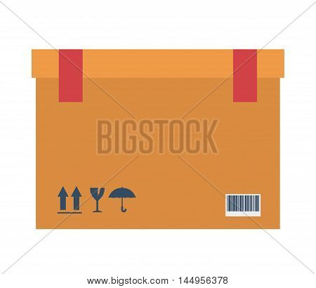 box package delivery shipping logistics icon. Isolated and Flat design. Vector illustration