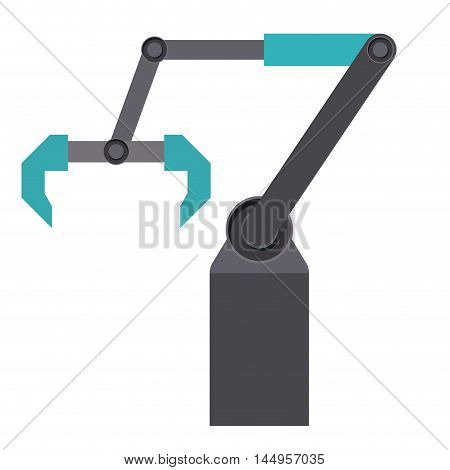 crane delivery shipping logistics icon. Isolated and Flat design. Vector illustration