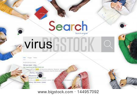 Virus Security Hacking Protection Risk Safe Digital Concept