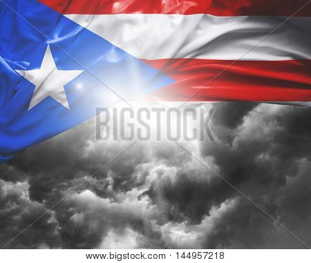 Puerto Rico flag on a bad day