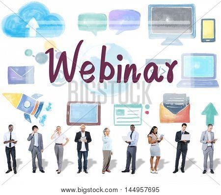 Webinar Website Online Internet Networking Concept