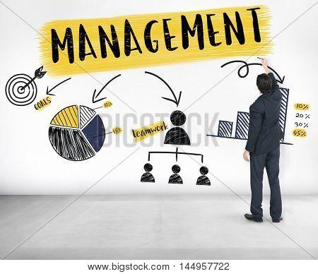 Management Strategy Planning Branding Chart Concept