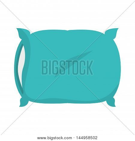pillow soft comfortable cushion bed interior home room decoration vector illustration