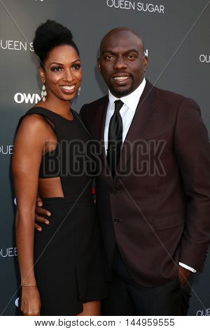 LOS ANGELES - AUG 29:  Conisha Wade, Omar J Dorsey at the Premiere Of OWN's