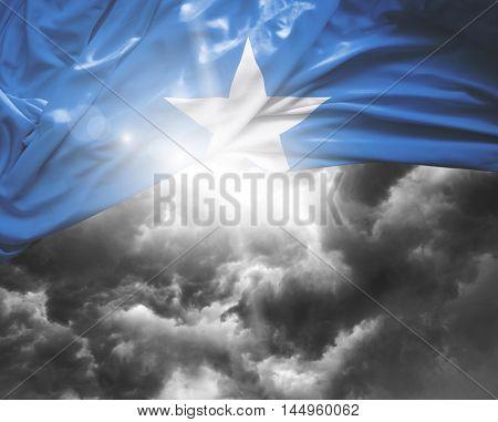 Somalia flag on a bad day