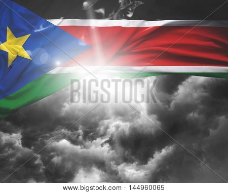 South Sudan flag on a bad day