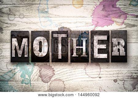 Mother Concept Metal Letterpress Type