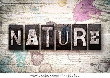 Nature Concept Metal Letterpress Type
