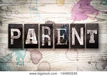Parent Concept Metal Letterpress Type