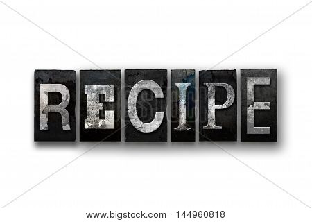 Recipe Concept Isolated Letterpress Type
