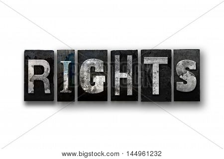 Rights Concept Isolated Letterpress Type