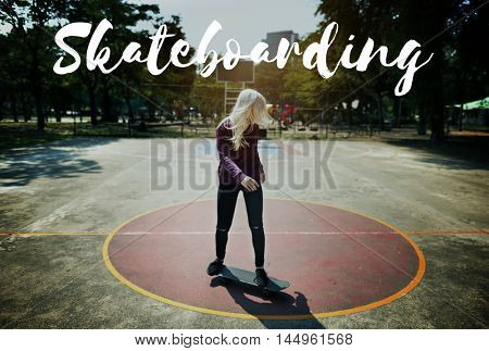 Skateboard Lifestyle Recreation Extreme Sport Concept