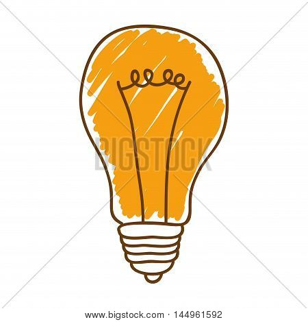 bulb power light energy electricity sketch object vector illustration