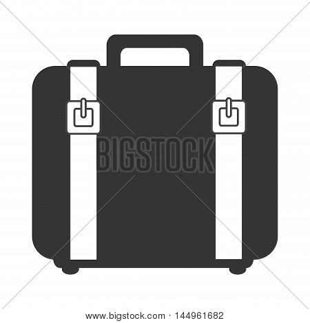 suitcase bag leather accessory luggage handbag travel vector illustration