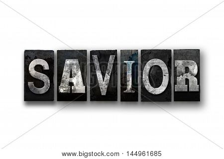 Savior Concept Isolated Letterpress Type