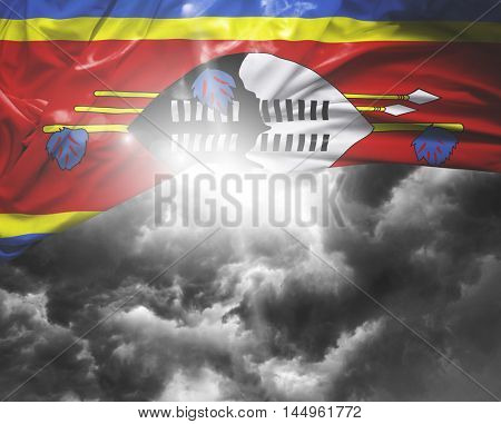 Swaziland flag on a bad day