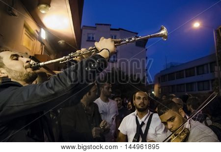 Istanbul Turkey - May 05 2013: Hidrellez in Ahirkapi Festival ( Romani language: Ederlezi ). - Hidrellez - is one of the seasonal festivals of all Turkish world which is celebrated as the first day of the - early summer -. It is also - day of Hizir - the