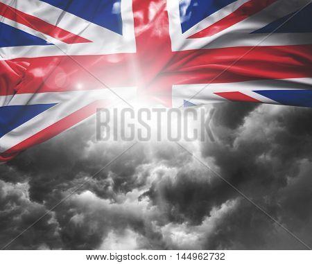 United Kingdom flag on a bad day
